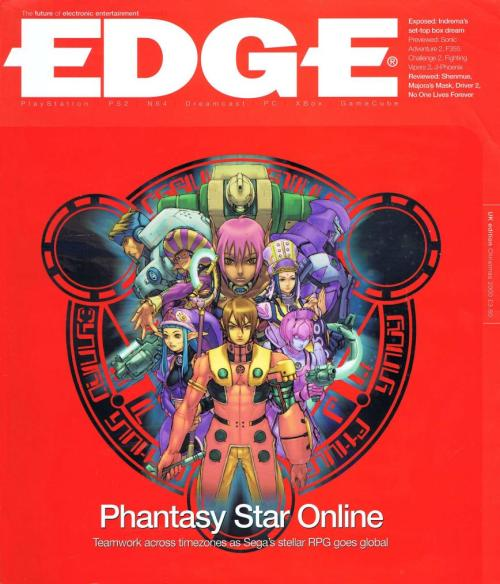 oldgamemags:  EDGE Magazine Issue #92, December 2000 - the awesome Phantasy Star Online cover!