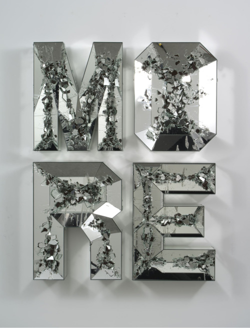 iheartmyart:  Doug Aitken, MORE (shattered pour), 2013, high density foam, wood, mirror, 65 x 49 x 6 in Exhibition 100 Years at the 303 Gallery, February 1 - March 23, 2013 Http://www.303gallery.com