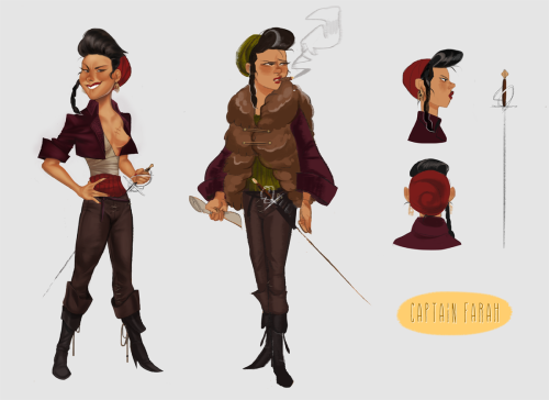 Pirate captain Farah! I've got a pirate story brewin'.