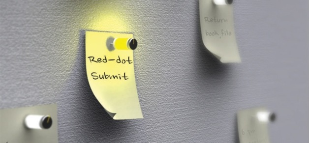 "A great idea by Kim Sung Min: The ""It's time to read me"" pin-up board and light-up drawing pin set."