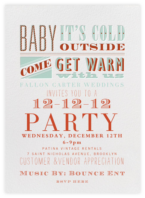 Come on out this Wednesday 12-12-12 and celebrate the Christmas season with Fallon Carter Weddings! You don't want to miss this! Click here to RSVP!