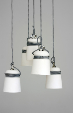 Ceramic Cable Lights by Patrick Hartog