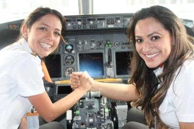 lickypickystickyme:  Gol Airlines today has an all female flight. Pilot, co-pilots, flight attendants,every member on board; all girl power in the air.
