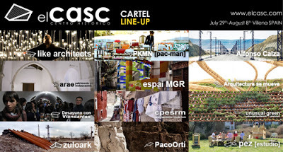 elcasc is a sociocultural renewal project set in Villena, Spain, which aims to investigate and transform aspects of the historic city centre's social and urban fabric. Over the course of 10 days in the summer of 2013, from july 29th to august 8th, a 200-strong multi-disciplinary group of students and young professionals from around the world will descend upon the town and work together to devise and deliver a series of low-cost architectural, artistic and cultural interventions that draw on and celebrate the city's local heritage and socio-cultural patterns.