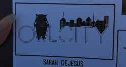 hootowlforlife:  My Owl City drawing got put in the yearbook. ;D