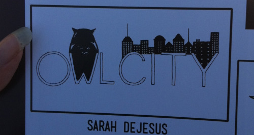 mommahootowl:  hootowlforlife:  My Owl City drawing got put in the yearbook. ;D  Well done, Lil' Owl!