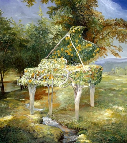 fleurdulys:  Pear Tree Piano - Timothy Martin