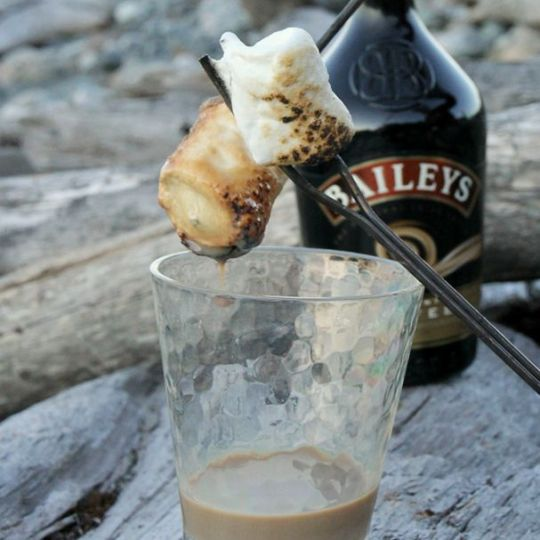 BaileysDipped Toasted Marshmallows 29 Camping Recipes That39ll Make You  Look Like A Genius. chrome hearts ring   Tumblr