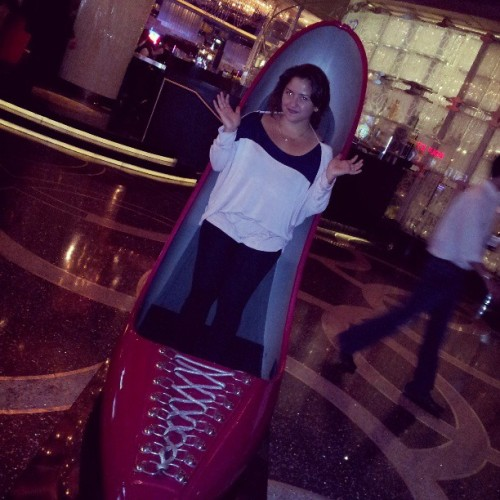 If the shoe fits #LasVegas #Vegas #TheCosmopolitan #new #fancy #huge #heel #love #shoes #obsession #shoelover #instashoe