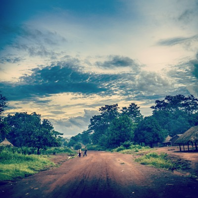 The road to Bangassou, in the Central African Republic. Original photo by Sean Sheridan for Mercy Corps