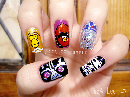 Angry Birds Star Wars Nails
