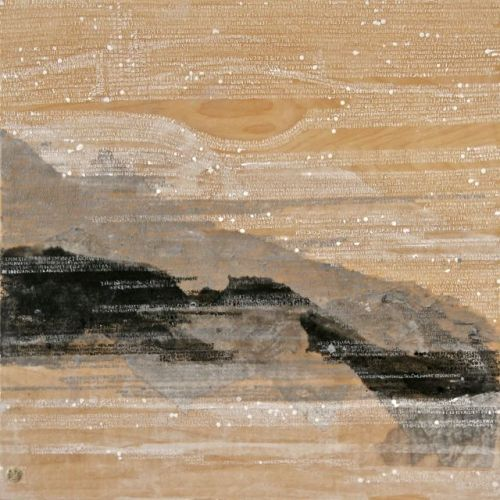 iamjapanese:  Karen Green Dear Dr./Bolinas Lagoon   2010 Mixed Media on Panel