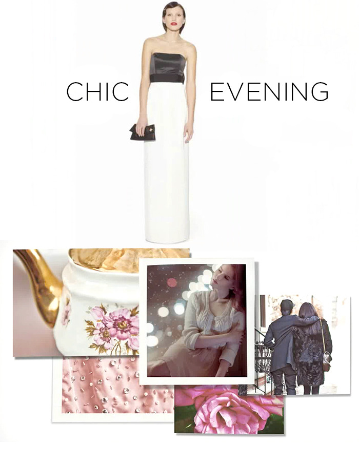 Chic Evening Moodboard for the Kate Young for Target collection.