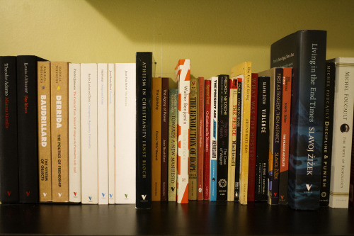 A taste of my theory shelf. Verso Radical Thinkers commodity fetishism.