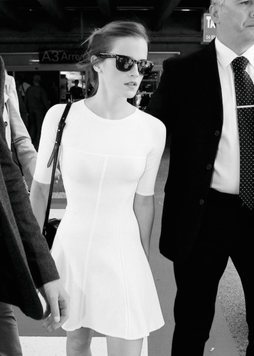 forthosewhocravefashion:  Emma Watson arriving at Nice Airport in France - May 14, 2013