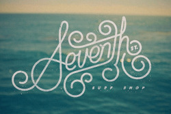 typejunkie:  (via Seventh St. Surf Shop logo on Behance)