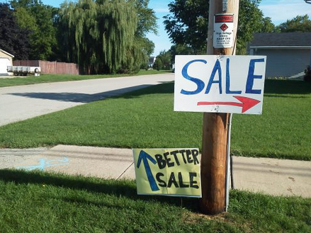 The grass and the yard sale are always better on the other side.