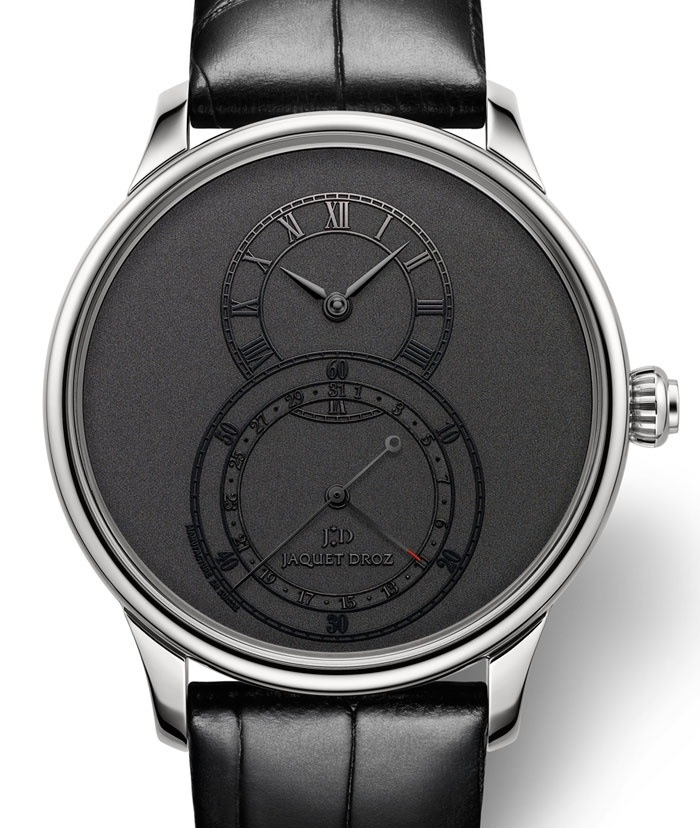 mensfashionguide:  Simplicity says it all.  By Jaquet Droz, grande Seconde Quantieme.