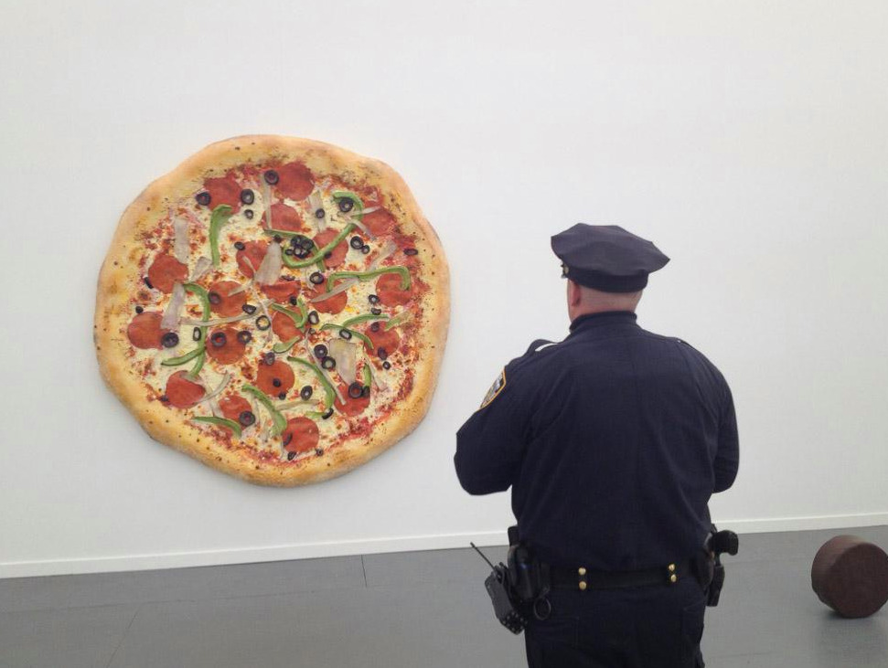 Tom Friedman meets the NYPD at Frieze New York. More wrap-up photos from the festival here.