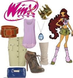 Layla (Aisha) - Winx Club by brittany-coughlin featuring long necklaces
