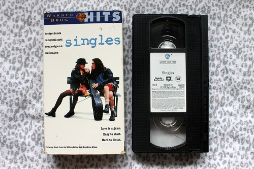 ambersellsmerch:  Singles - Cameron Crowe - VHSUsed - Good Condition $3 USD Or Best Offer Please ask for a Shipping Quote if you are interested in buying.