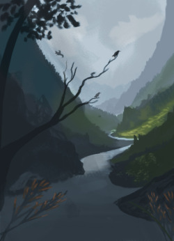 quick landscape sketch