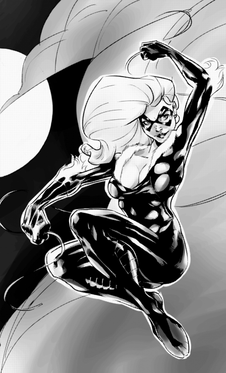 cleavageandclaws:  Black Cat by ~GlebTheZombie