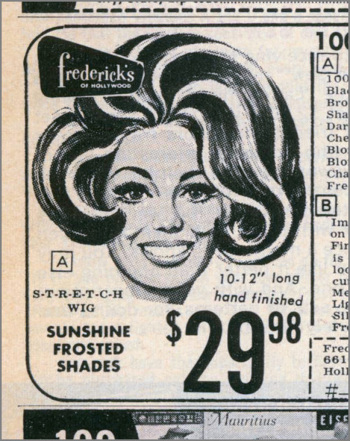 Frederick's of Hollywood Two-Tone Wig, 1969 (by MewDeep)