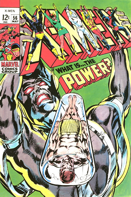 Integrating the logo, #3: Neal Adams' first version of the cover for X-Men #56.