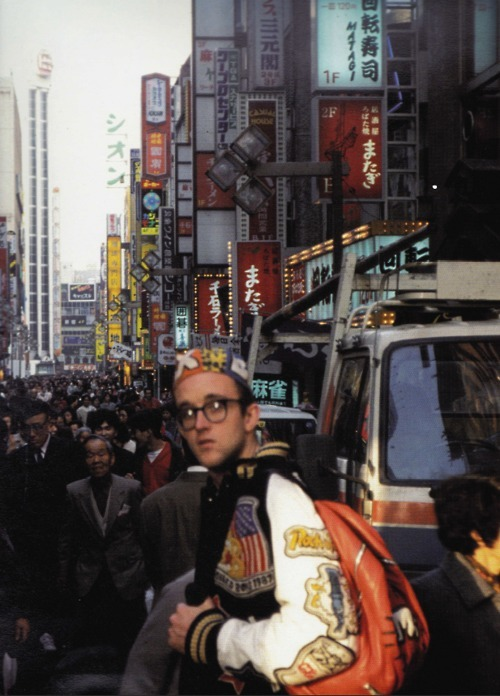 fueradeltiempo:  keith haring in osaka, japan