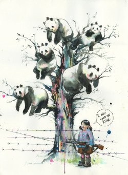 urhajos:  Panda-tree by *lora-zombie