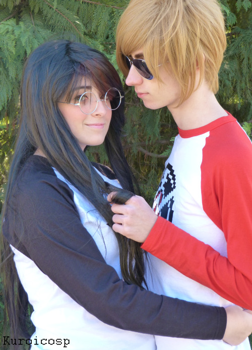 Exion as Dave Strider Yuko as Jade Harley HOMESTUCK by Andrew Hussie