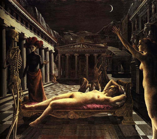 Paul Delvaux, The Sleeping Venus, 1944