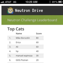 Guess who is the top cat on the coding leader board? #io13  #sanfrancisco #tech