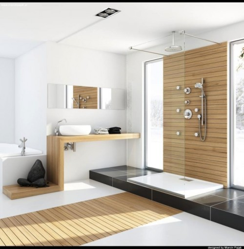 homedesigning:  (via Modern Bathrooms with Spa-Like Appeal)  Ooooohh