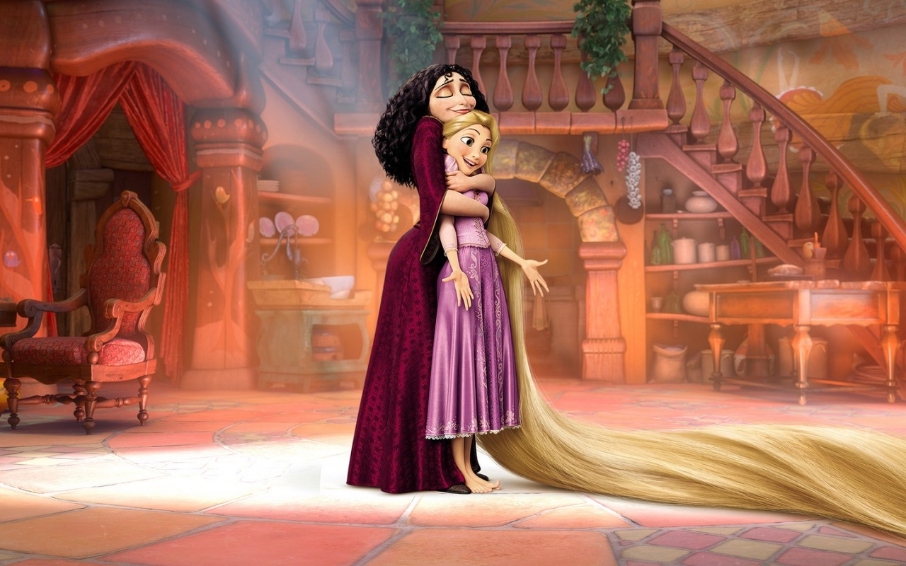 Rapunzel + Gothel in the Tower - Tangled Promo || 1440x900 pixels {same pose, blank background}