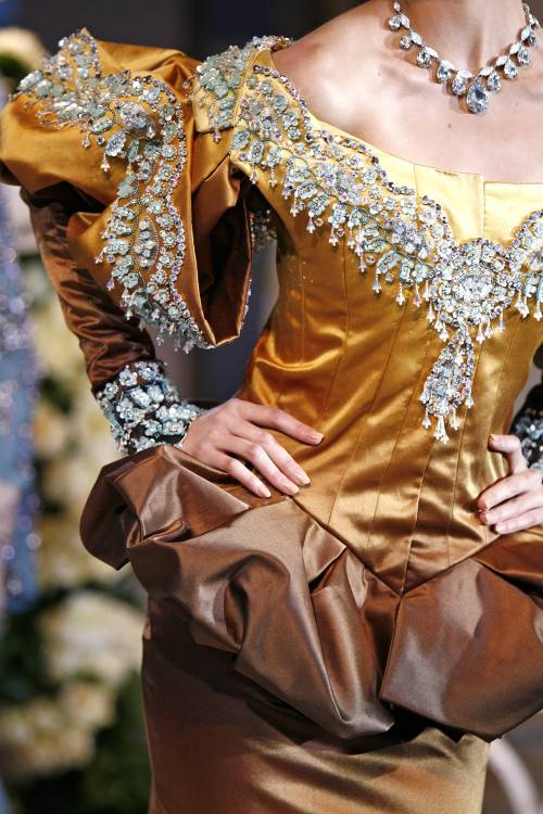 Details: Christian Dior, Haute Couture Fall/Winter 2007.