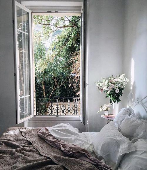 Architecture decor interiors interior decor interior design minimal scandinavian nordic bedroom cozy inspiration white flowers girl romantic
