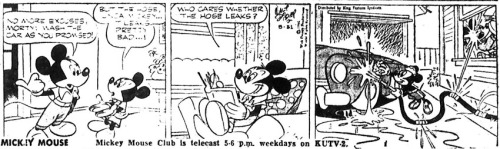 Mickey Mouse comic strip 31 May 1956