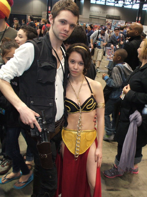Han Solo and Slave Leia @C2E2