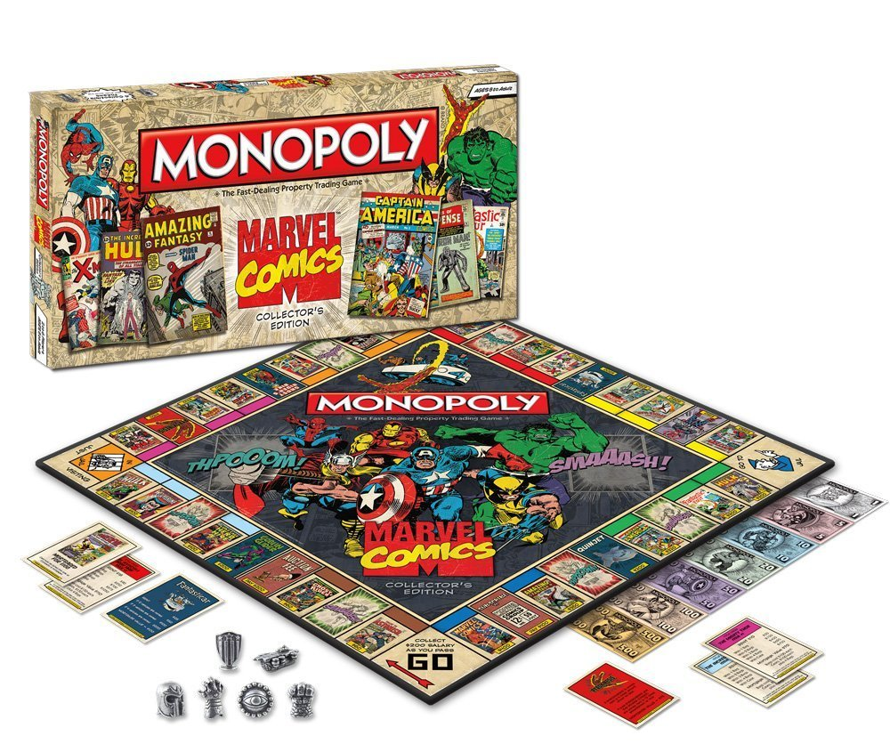 Monopoly Marvel Comics Collector's Edition Experience the action and excitement of classic Marvel comic books featuring artwork from Marvel's vast publishing library. (vía Times New Geek)