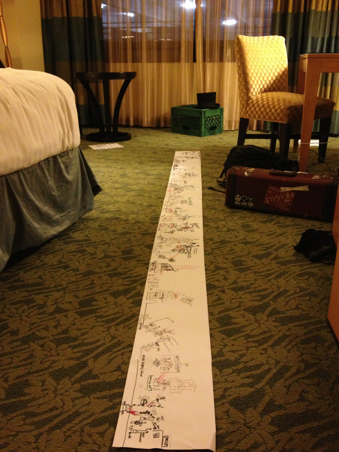 i drew my #TED2013 talk out in sharpie. it is about eight feet long. i am taking this as a good omen.