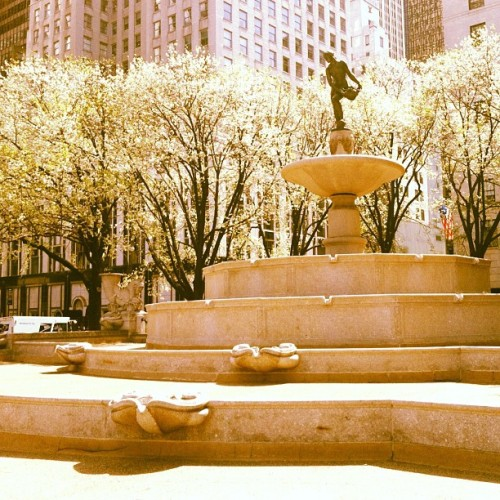 Pamona, the goddess of abundance. Pulitzer Fountain-Grand Army Plaza.