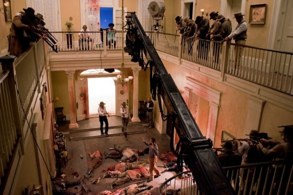 Set of Quentin Tarantino's newest film Django Unchained.