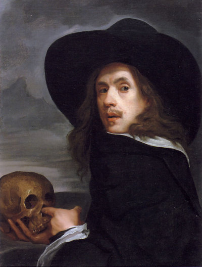 thestuartkings:  prettyskeletons: Portrait of a Man Holding a Skull. Michael Sweerts, c. 1660.