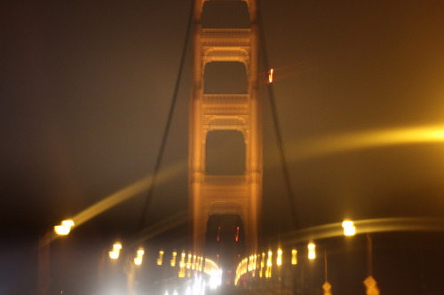 Long exposure driving on the golden gate.