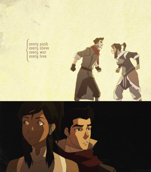 aanglophile:  yeah, the coals are beginning to glow [♪]   30 days of korra ▹ OTP