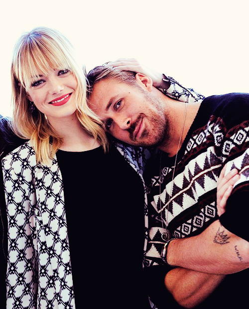 fuckyeahmcgosling:  The gorgeous duo, who played love interests in the 2011 comedy Crazy Stupid Love, easily stole the show, throwing glancing looks and giggling throughout the photo shoot. [x]