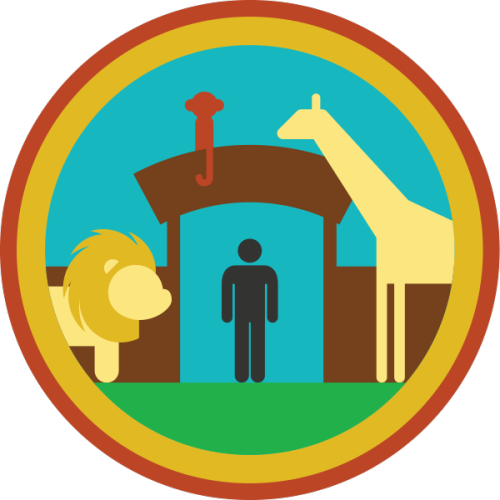 lifescouts:  Lifescouts: Zoo Badge If you have this badge, reblog it and share your story! Look through the notes to read other people's stories. Click here to buy this badge physically (ships worldwide). Lifescouts is a badge-collecting community of people who share real-world experiences online.  Ive been several times to different zoo's (¿?) and although im against of taking animals off ther natural habits, i like being able to watch them from so close and even feeding them sometimes. Guilty pleasure