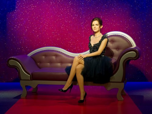 Emma Watson immortalized at Madame Tussauds Wax Museum in London.